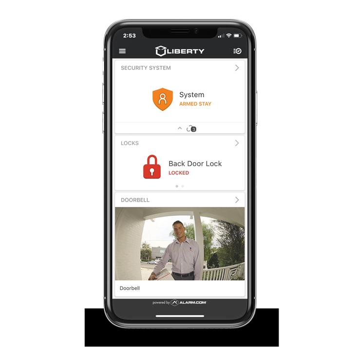 Liberty security black iphone app locked
