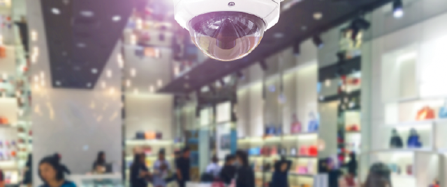 Liberty security indoor security camera monitoring a business