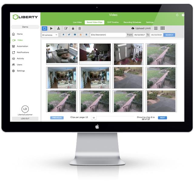 Liberty security mac application customer video monitoring