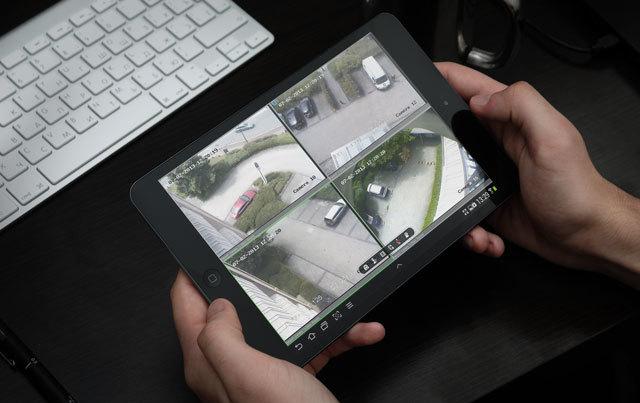 Liberty security ipad monitoring security cameras